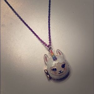 Llama/unicorn Children's place necklace💕